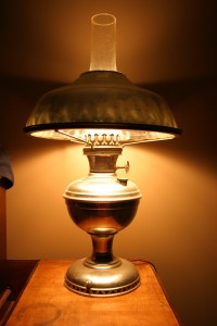 Oil to Electric Converted Lamp