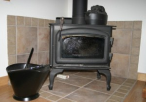 The woodburning stove in The Little House