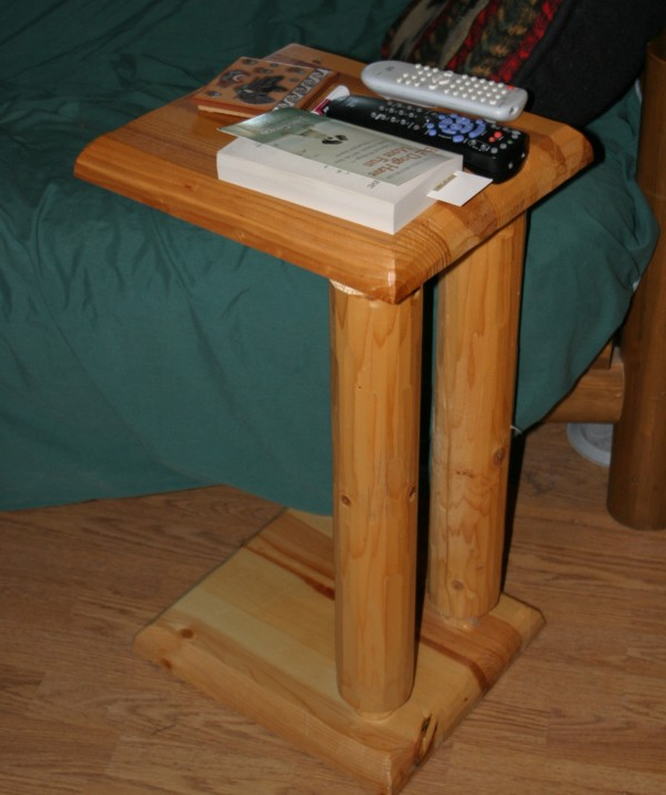 since i donu0027t have room next to the futon for a side table this sofa table works perfectly to hold my drinks television remote phone and reading material