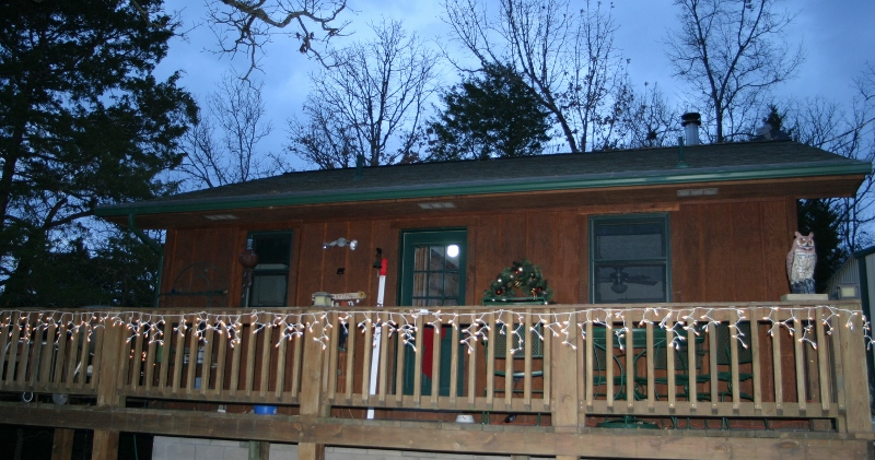 The Party Deck all Decked Out for Christmas!