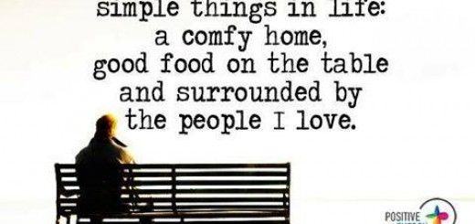 Simple things in life